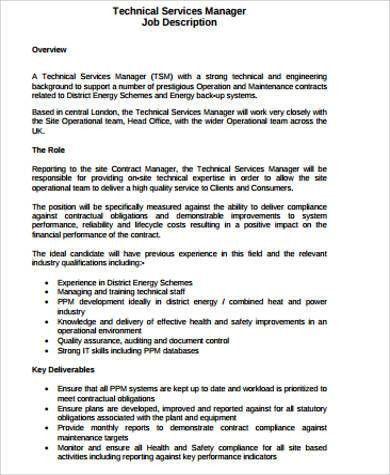 Service Manager Job Description. Service Delivery Manager Resume ...