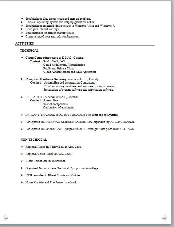 Example Resume For High School Student. Examples Of Resumes For ...