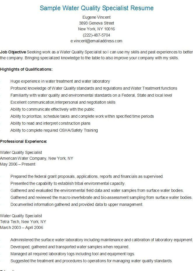 Information Management Specialist Resume - Contegri.com