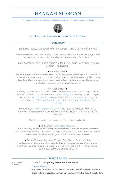 Blogger Resume samples - VisualCV resume samples database