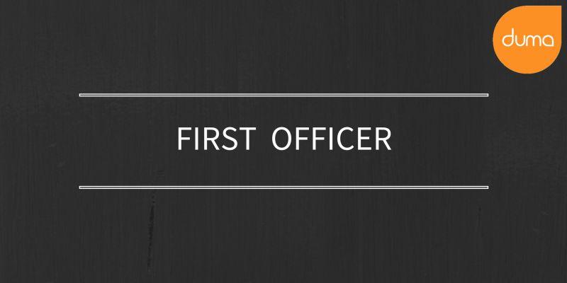 Job Vacancy - First Officer - Duma Works Blog