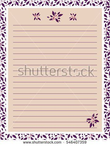 Vector Printing Paper Note Cute Paper Stock Vector 544274983 ...