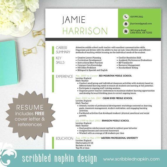 free teacher resume templates microsoft word template design free ...