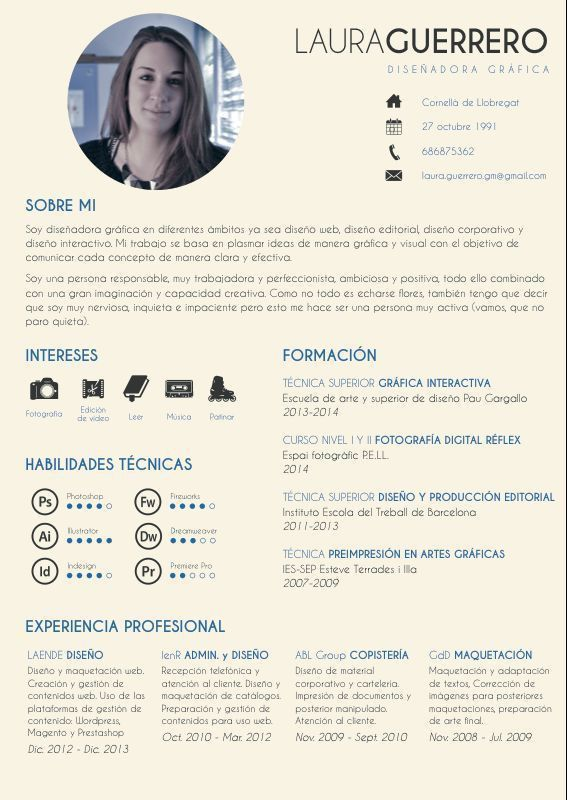 36 best El Currículum Vitae CV images on Pinterest | Resume ...