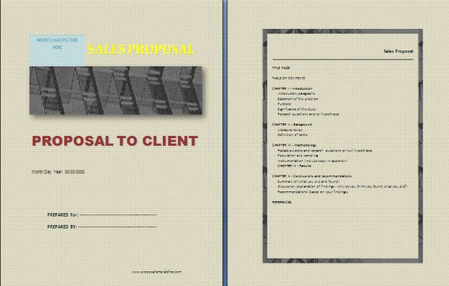 Sales Request Proposal Template | Free Proposal Templates