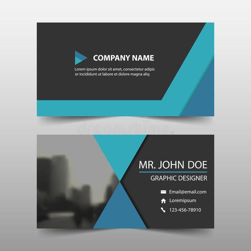 Blue Corporate Business Card, Name Card Template ,horizontal ...