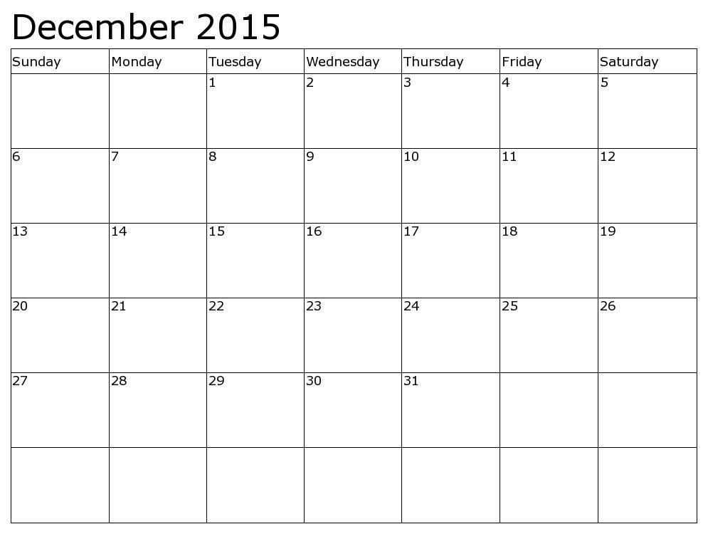 December 2015 Calendar Pdf - This Calendar Portal provides you ...
