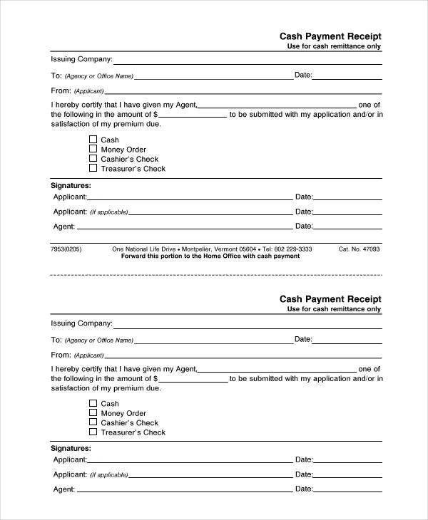 9+ Cash Receipt Templates | Free & Premium Templates