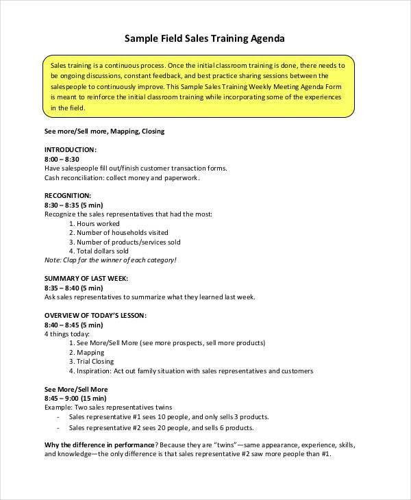 Wonderful Sample Training Agenda. 6+ Sample Of Agenda | Portfolio Covers .