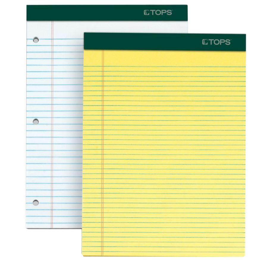 TOPS Double Docket Writing Pads 8 12 x 11 34 Narrow Ruled 100 ...