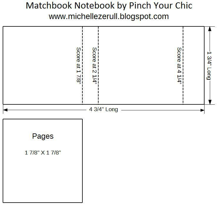 Pinch Your Chic: Winter Matchbook book binding Tutorial with PDF ...