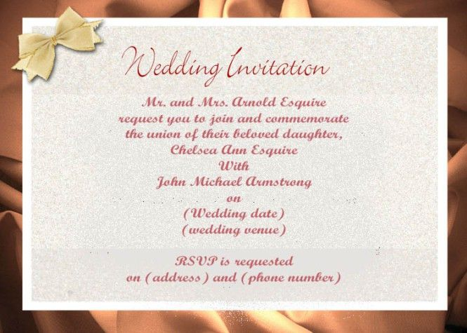 Marriage Invitation Mail Format] Sisters Wedding Invitation Email