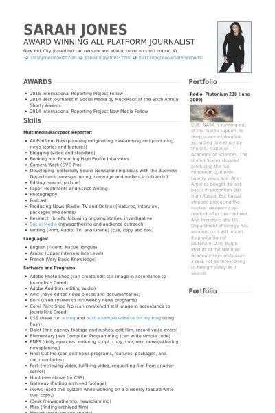 Freelance Writer Resume Sample. example cv freelance writer ...