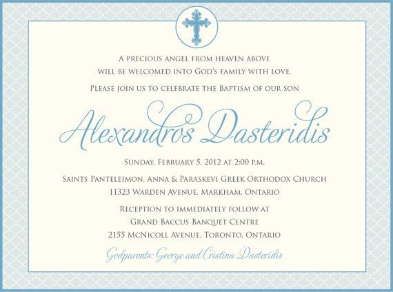 Boys Baptism Invitation - Baby Dedication, First Communion ...