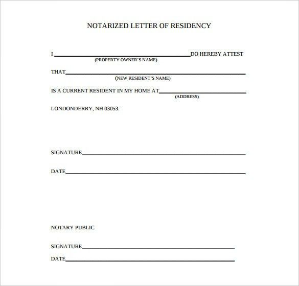 Notarized Letter Template – 8+Free Word, PDF Documents Download ...