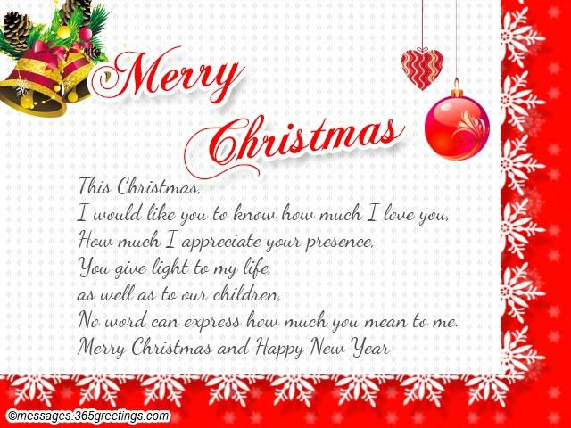Christmas Messages for Wife, Wife Christmas Greetings and Wishes ...
