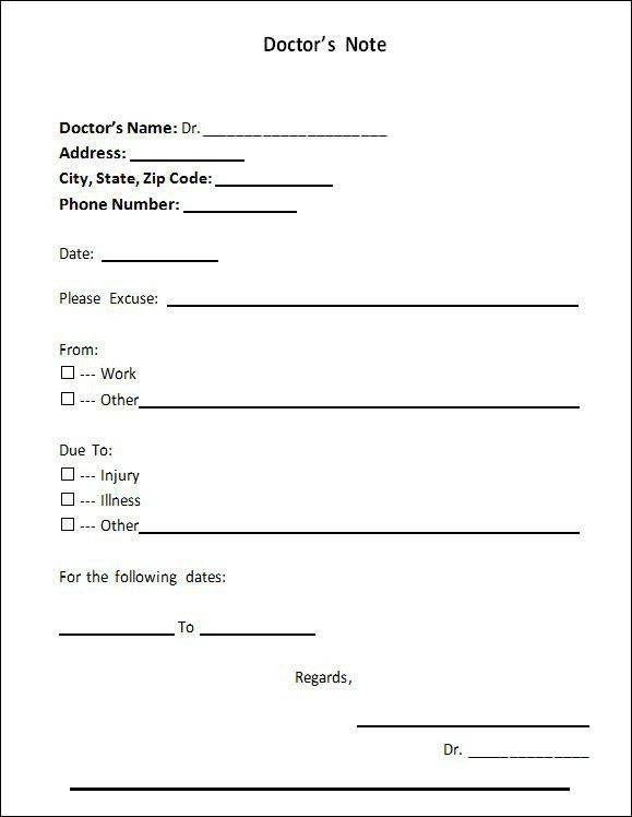 Doctors Note Template - 21+ Download Free Documents in PDF , Word ...