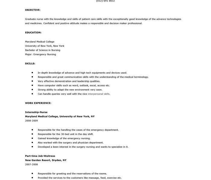 sample rn resume new grad new registered nurse resume sample