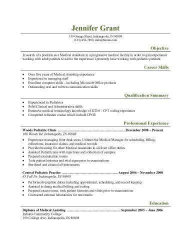 Peachy Design Medical Resume Templates 6 CV Template - CV Resume Ideas