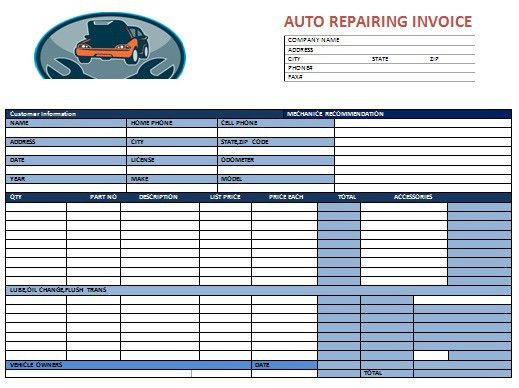 20+ [ Garage Invoice Template ] | Invoice Book Royalty Free Stock ...