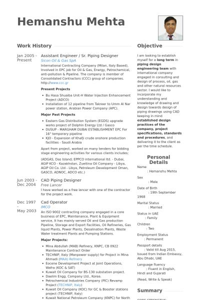 sample resume for oil and gas industry resume samples types of