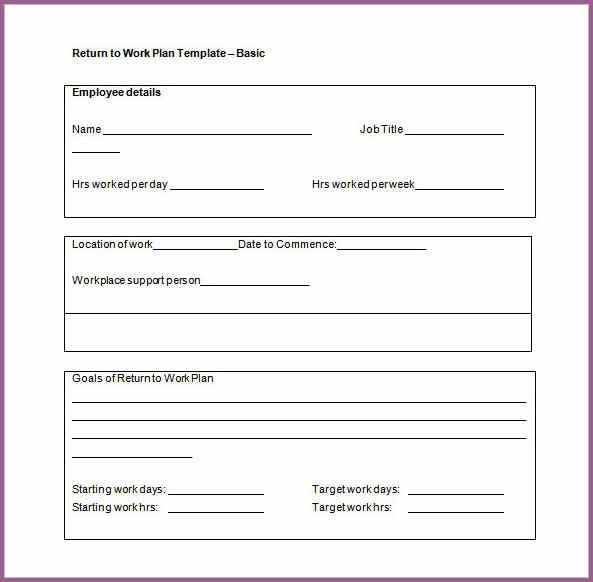 WORK PLAN TEMPLATE | designproposalexample.com
