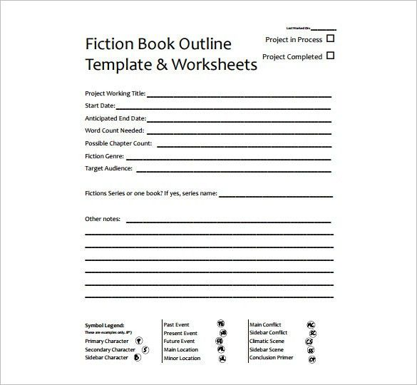 Book Outline Template – 6+ Free Sample, Example, Format Download ...