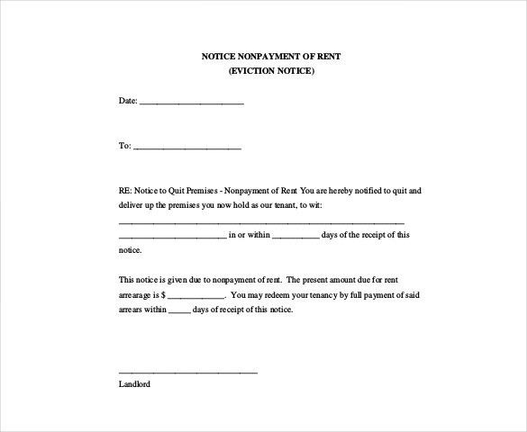 Eviction Form Template Sample Eviction Notice Template 37 Free – 30 Eviction Notice Form
