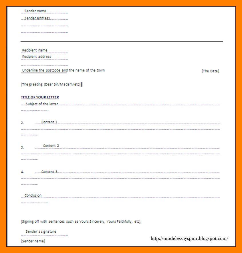 10+ informal letter format spm | appeal leter