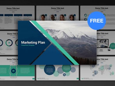 Free PowerPoint template: Marketing Plan by hislide.io - Dribbble