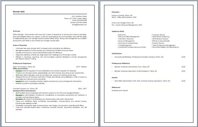 Office Administrator Resume Samples | RecentResumes.com