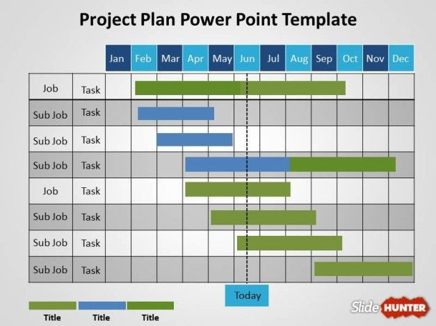 powerpoint project schedule template free project plan powerpoint ...