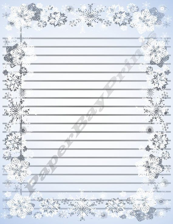 Printable Paper With Apple Border Lined Writing by PaperBayPrints ...