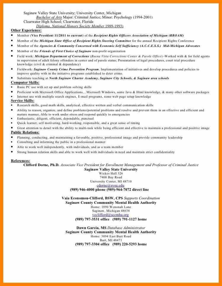 7+ criminal justice resume | resign latter