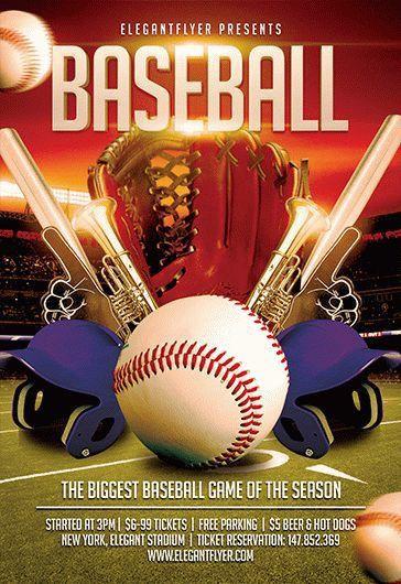 Baseball – Flyer PSD Template + Facebook Cover – by ElegantFlyer