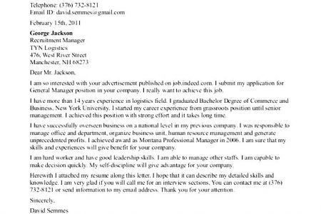 cover letter for barista
