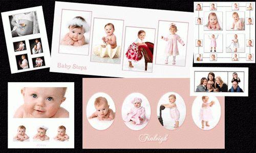 Photoshop PSD photo templates, baby planner, digital image ...