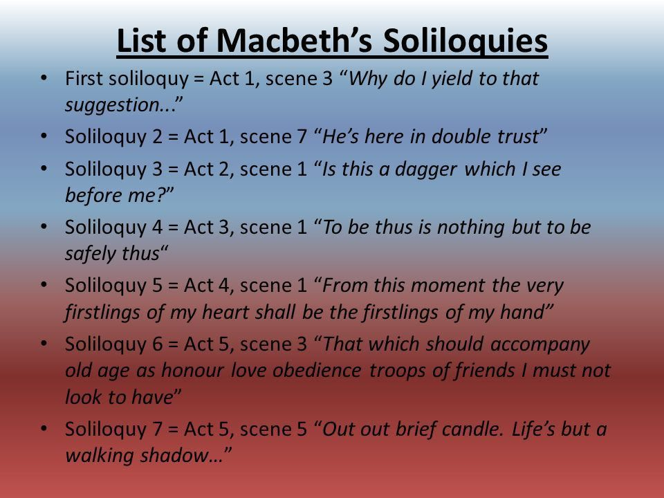 Soliloquy's, Foreshadowing, - ppt download
