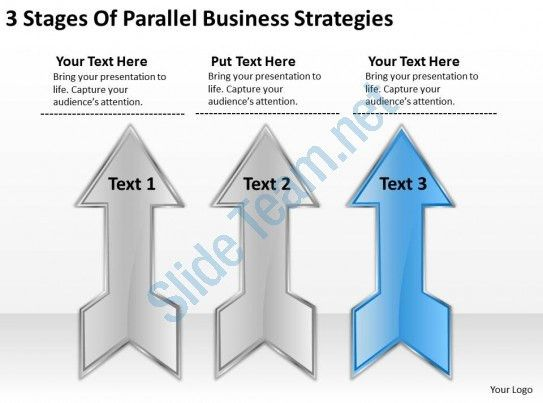 Sample Business Model Diagram 3 Stages Of Parallel Strategies ...