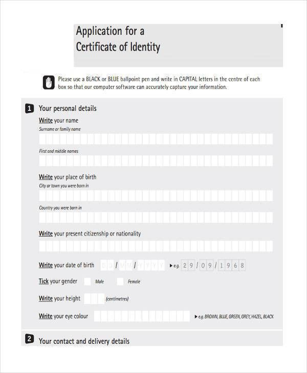 36 Certificate Forms in PDF