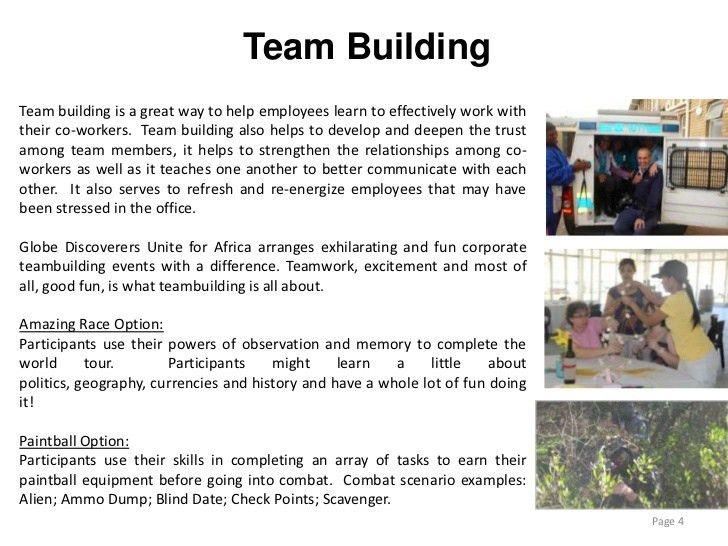 Corporate events presentation
