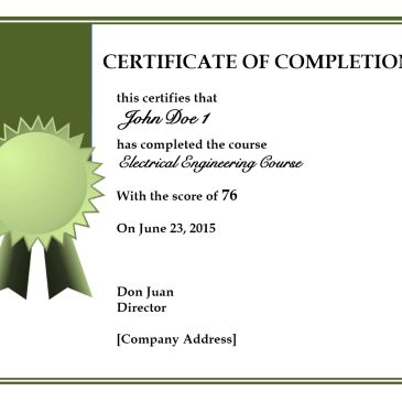 Certificate of Course Completion Template Archives - Word Templates