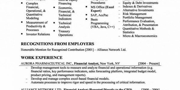 Certified Financial Planner Resume Financial Planner Resume ...