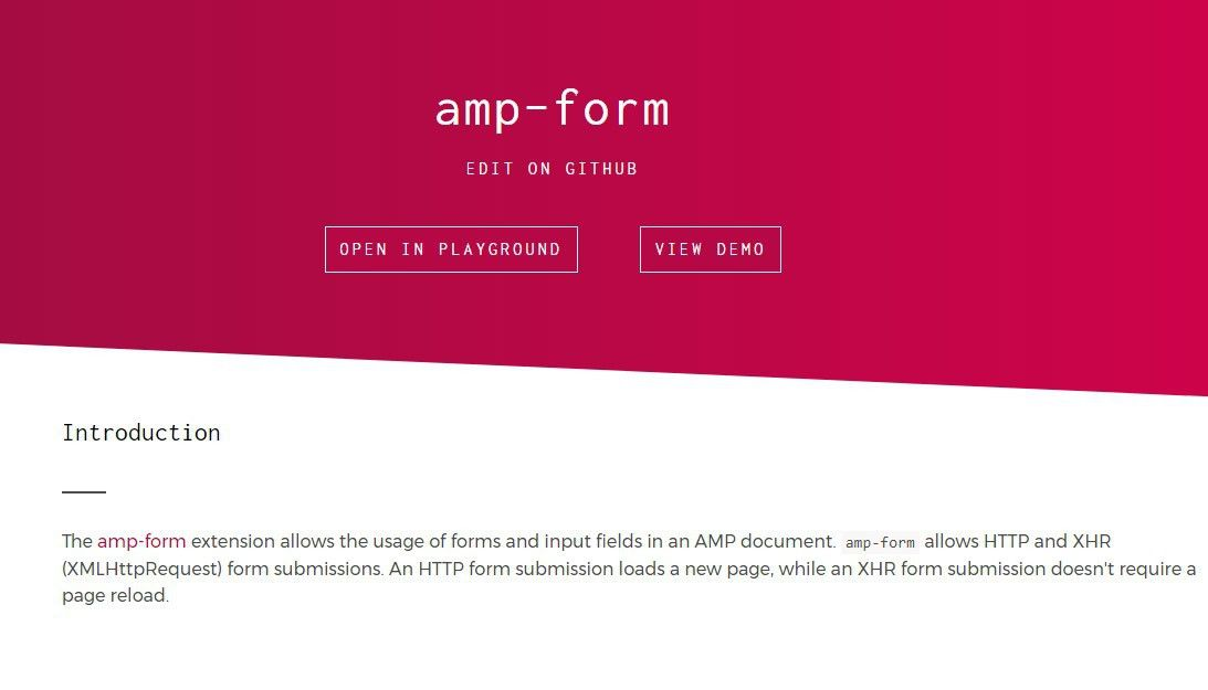 AMP Form