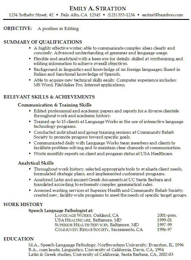 Career Change Resume Objective Statement Examples ...