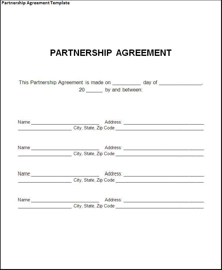 Partnership Agreement Template - Best Word Templates