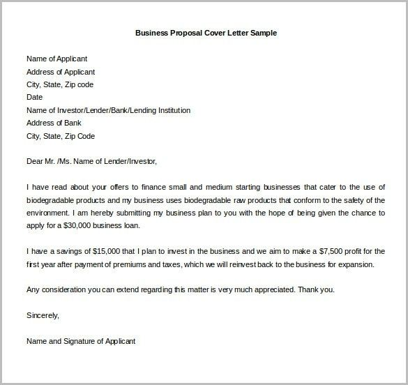 Business Proposal Letter 22 Examples In Pdf Word Covering For ...