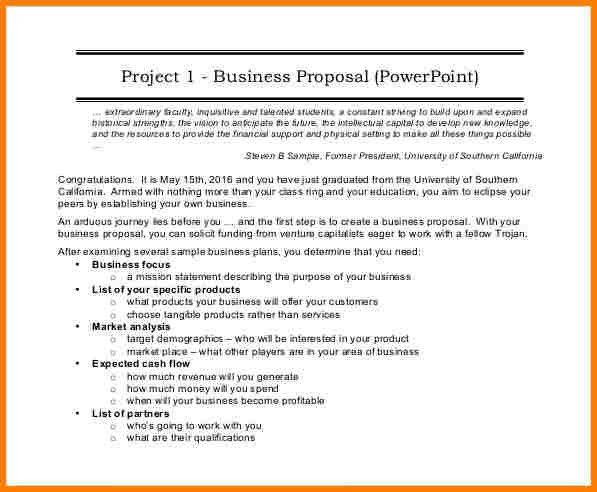5+ business proposal format | Proposal Template 2017