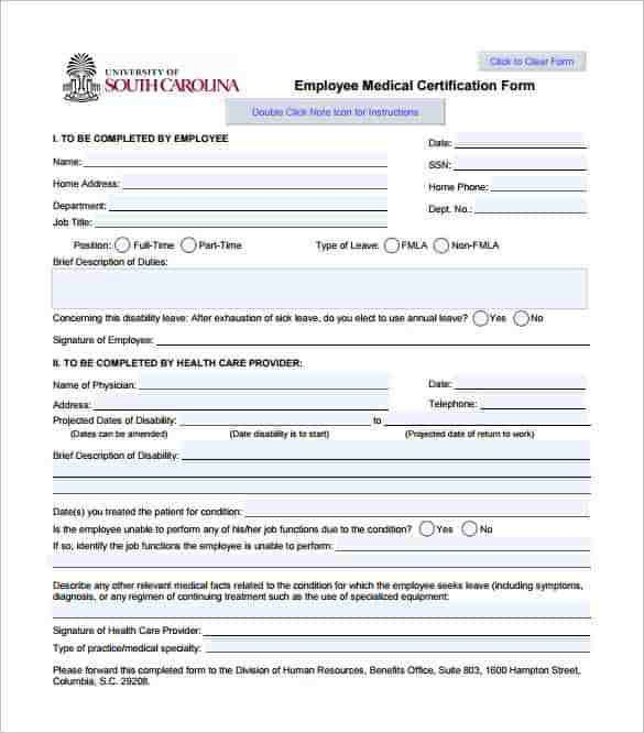 Leave Forms Template] Sample Medical Leave Form 13 Download Free ...