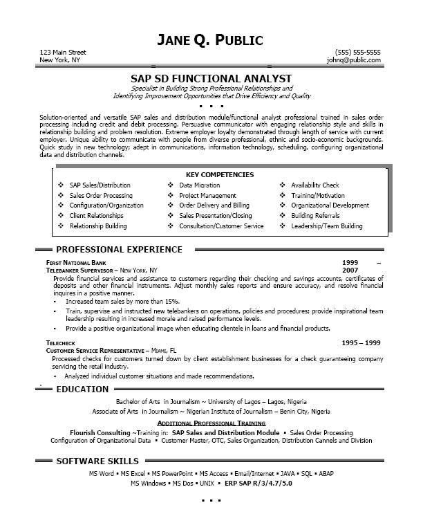 sap abap developer cover letter - Sample Sap Resume
